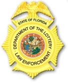 Florida Lottery Department of Security badge