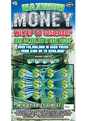 1318-MAXIMUM MONEY Scratch-Off Ticket