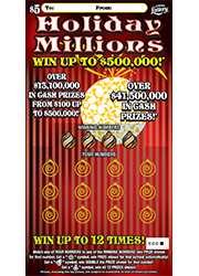 1325-Holiday Millions Scratch-Off Ticket