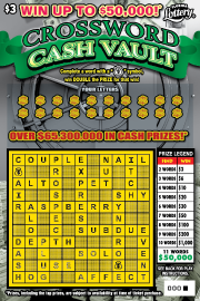 1393-$3 Crossword Cash Vault
